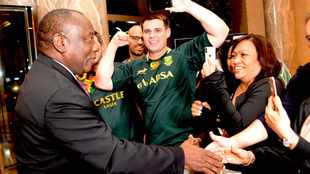 WATCH: SA's moment has arrived, says Ramaphosa en-route to Rugby World Cup final