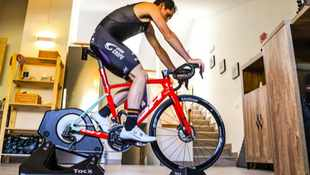 Cyclists virtually scaling new heights during lockdown