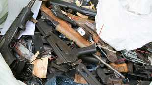 PICS: Police destroy more than 30 000 firearms, seized during crime fighting operations