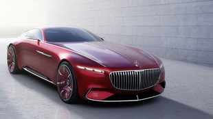 Maybach coupe futuristically salutes the past