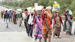 India's poor risk all to make the long walk home during lockdown