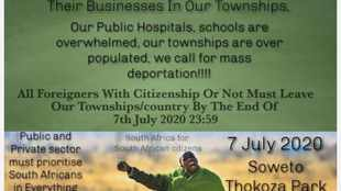 Xenophobia inciting poster condemned