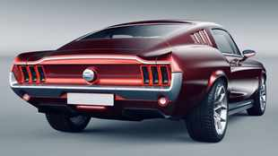 Classic Mustang style meets 620kW Tesla heart - with love from Russia