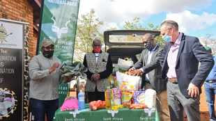 SANParks donates food parcels and water tanks to rural Limpopo community