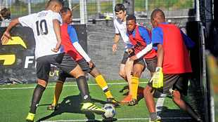 World's best five-a-side soccer players in action at Century City
