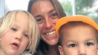 Mario-César Deus Yela's ex-wife Julia Engelhorn with their three-year-old twins, Maximo and Octavia, who were killed in Hout Bay in April. PHOTO: Facebook