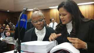 President Jacob Zuma's legal representatives, Advocate Ishmail Semenya and Advocate Anthea Platt at the North Gauteng High Court on Tuesday. PHOTO: Brenda Masilela/ANA