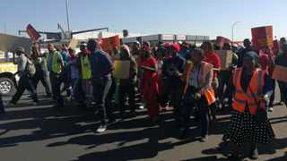EFF members and Just Coal employees marching. PHOTO/ANA