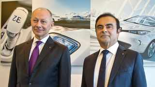 Thierry Bollore (left) is expected to replace Carlos Ghosn as Renault CEO. File picture: Michel Euler / AP.