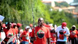Protesting Nehawu workers. File photo by African News Agency (ANA).
