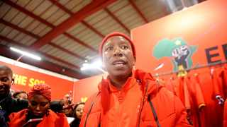 EFF Commander-in-Chief Julius Malema visited the pavilion at the Rand Easter Show. Picture: Nokuthula Mbatha/African News Agency(ANA)