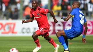Ben Motshwari of Orlando Pirates is challenged by Zukile Kewuti of Cape Town City during a Absa Premiership match. Picture: Phando Jikelo/African News Agency (ANA)