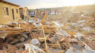 Alex Demolitions, residents of Alexandra picking up whats left of their homes after their homes were demolished. Picture: Bhekikhaya Mabaso/African News Agency(ANA)