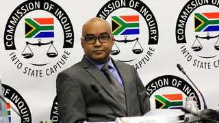 Former ANN7 Editor, Mr Rajesh Sundaram appears before the commission of inquiry into allegations of state capture. Picture: Dimpho Maja/African News Agency(ANA)