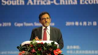 South Africa - Cape Town - 21 June 2019 -Minister of Trade and Industry Mr Ebrahim Patel during the signing ceremony. AMBASSADOR LIN SONGTIAN and  Minister Ebrahim Patel delivered a SPEECHES IN CAPE TOWN AS CHINA SENDS POWERFUL  DELEGATION TO BOLSTER ECONOMIC TIES To facilitate the effective implementation of the consensus reached by His Excellency President Xi Jinping with His Excellency President Cyril Ramaphosa and the outcomes of the 2018 FOCAC Beijing Summit, the government of the People's Republic of China is sending a powerful economic and trade delegation led by His Excellency Mr Ren Hongbin, Assistant Minister of Commerce in the People's Republic of China to visit South Africa to further enhance business cooperation from June 19 until the 22nd.The delegation consists of 60 entrepreneurs from more than 40 major companies who are expected to  sign 87 cooperation agreements with their South African counterparts. For this purpose, a signing ceremony will be held from 3pm to 4pm on June 21, at Hall 9 of the Cape Town International Convention Centre [CTICC II].This event will be witnessed and graced by His Excellency President Cyril Ramaphosa; Minister of Trade and Industry Mr Ebrahim Patel of South Africa; His Excellency Ambassador Lin Songtian; and Assistant Minister of Commerce Mr Ren Hongbin of the People's Republic of China.This is a major stride taken by The People's Republic of China to implement the important concensus reached between the 2 heads of state.The significance goes beyond the event itself,it fully shows the strong political commitment and confidence of the Chinese government to support the ANC government under the leadership of President Ramaphosa for economic development and renewal.Picture: Ayanda Ndamane/African News Agency(ANA)