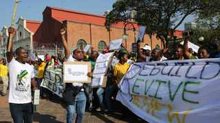 ANCYL eThekwini region members march on the streets of Durban. Disgruntled members will march to St George Hotel in Irene where the ANC NEC will meet on Friday. File picture: Motshwari Mofokeng/African News Agency(ANA).
