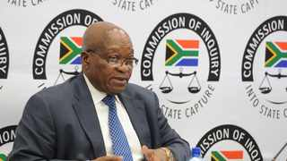 Former President Jacob Zuma on the witness stand at the Zondo Commission. Picture: Karen Sandison/African News Agency(ANA)