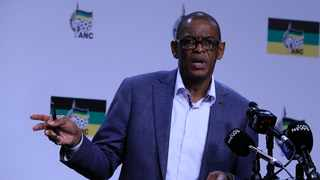 ANC Secretary-General Ace Magashule briefing the media from the ANC head office Luthuli House in Johannesburg on the outcomes of the NEC meeting. Picture: Simphiwe Mbokazi/African News Agency(ANA)