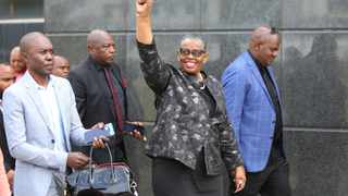 Ethekwini Mayor Zandile Gumede arrives at Regional Commercial Crimes Court on charges of fraud and corruption. She was accompanied by her bodyguards. Picture: Motshwari Mofokeng/African News Agency(ANA)