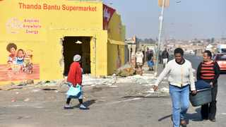 Shops belonging to foreign nationals after they were looted in Soweto. File picture: Itumeleng English/African News Agency (ANA).