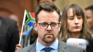 Ernst Roets could soon be charged and convicted for contempt of court over his display of the apartheid flag if the NMF has its way. Picture: Itumeleng English/African News Agency(ANA)