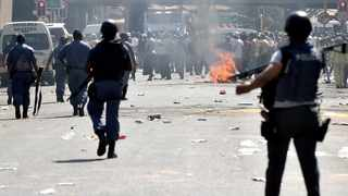 Chaos ensued in Pretoria CBD as taxi operators protested against drug dealers. Picture: Thobile Mathonsi /African News Agency (ANA)