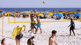 Hot weather on Camps Bay Beach in Cape Town saw people flock to the beaches to take advantage of the first sign of summer last month. Picture: Tracey Adams/African News Agency(ANA)