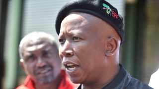 EFF leader Julius Malema talks to members of the media. File Image - African News Agency (ANA)