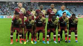 Stellenbosch FC ahead of last week's Telkom Knockout Round of 16 fixture against Orlando Pirates at Orlando Stadium in Soweto. Photo: Itumeleng English/African News Agency (ANA)