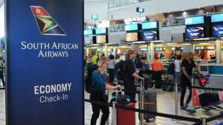 SAA check-in desk at Cape Town International Airport. Picture: Henk Kruger / African News Agency (ANA)