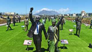 Lifelike statues of Struggle heroes and heroines are on display at Canal Walk, depicting icons who helped lead SA's 350-year struggle for freedom. Picture Courtney Africa/African News Agency(ANA)