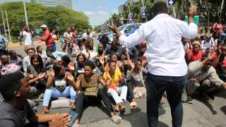 University of South Africa  (Unisa) students at Durban's main campus on the 27 January 2020 have embarked on a national shutdown of the institution. Picture: Motshwari Mofokeng/African News Agency (ANA)