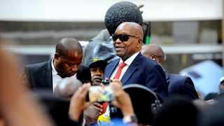 Former President Jacob Zuma at OR Tambo International Airport after returning to South Africa, allegedly following medical treatment abroad. File photo: Nokuthula Mbatha/African News Agency(ANA)