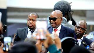 Former President Jacob Zuma has returned to South Africa after receiving medical treatment in Cuba. ANC supporters have gatherd at OR Tambo to wecome Zuma. Picture: Nokuthula Mbatha/African News Agency (ANA)