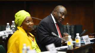 President Cyril Ramaphosa and Minister of Cooperative Governance and Traditional Affairs Dr Nkosazana Dlamini Zuma. Picture: Phando Jikelo/African News Agency(ANA)