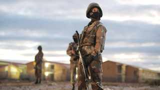 A South African soldier enforcing lockdown regulations as part of the country's response to the Covid-19 pandemic. File picture: Armand Hough/African News Agency (ANA)