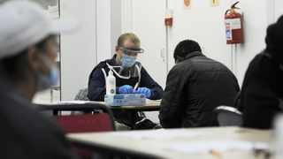 The Community Chest, with the aid of the provincial government, brought more than 180 homeless people stranded under the Culemborg bridge to its offices in the CBD. Photographer: Armand Hough/African News Agency(ANA)