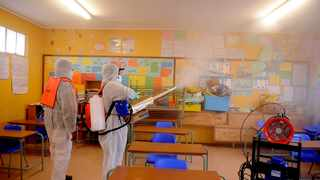 A South African school is disinfected against Covid-19. File photo: Ayanda Ndamane African News Agency (ANA)