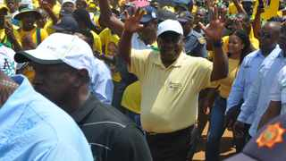 ANC president Cyril Ramaphoso during the ANC North West manifesto launch in Rustenburg on March 2. Picture: ANA