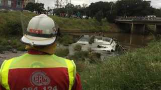 ER24 said that they recovered the body of a man believed to be in his 60s in the Dusi River. Picture: Supplied by ER24
