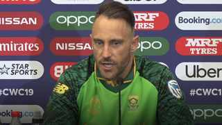 SA skipper Faf du Plessis admits his side are hurting following the defeat. Pic: icc.com