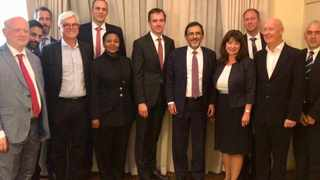 South Africa's economic development, trade and industry minister Ebrahim Patel and German ambassador Martin Schäfer with members of German business community. PHOTO: Supplied