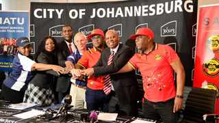 City of Johannesburg and trade unions signed a MoU agreement on Monday Picture:Supplied
