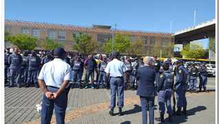 September 29 - South African Police Service (SAPS) officers in the Johannesburg Central district carried out various anti-crime operations this weekend. Photo: SAPS