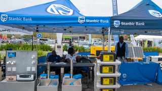Stanbic's stand at the recent ZESCO Alternate Power Expo. PHOTO: Supplied