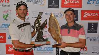 KwaZulu-Natal duo Byron Coetzee and Clayton Mansfield - The Sunshine Tour on Monday suspended all golf events in South Africa. Photo: CJ du Plooy