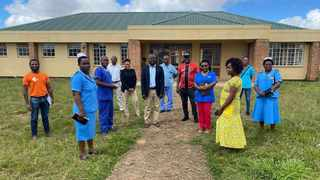Malawian ministry of health officials inspecting the Luwinga Technical Centre. Photo: Facebook/ Football Association of Malawi