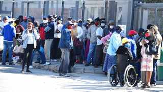 Desperate people in queues outside Sassa offices in Khayelitsha in Cape Town last month. File photo: ANA/Phando Jikelo