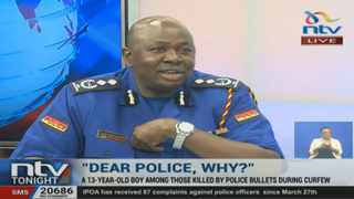 A screengrab of Kenyan police spokesperson Charles Owino Picture: Youtube | NTV Kenya