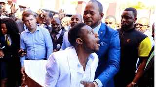 Pastor Alph Lukau claimed this man was raised from the dead during one of his Sunday services. Picture: Supplied